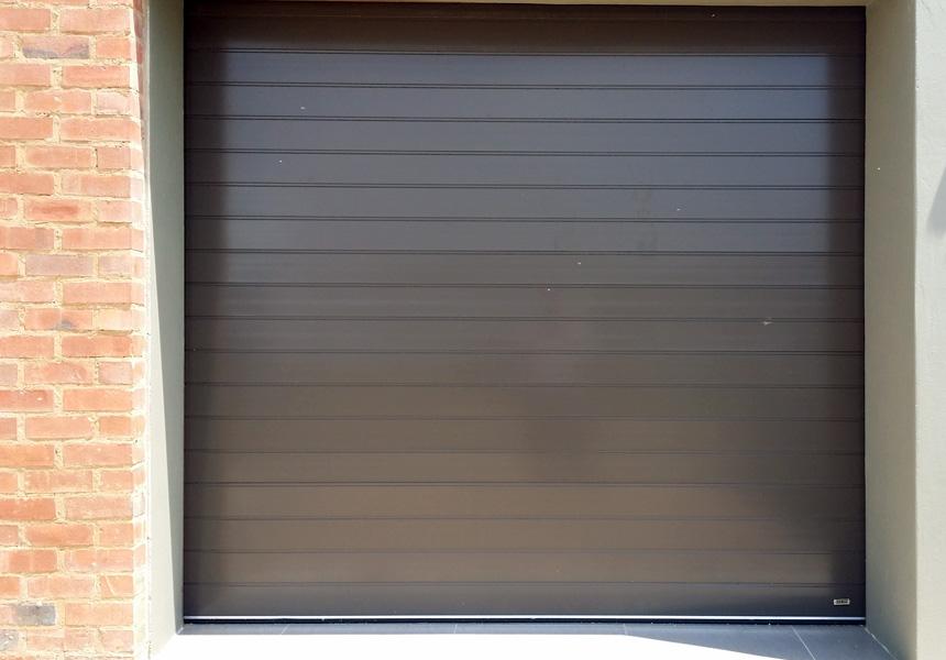 Aluminium Single Bronze Rightfit Garage Doors